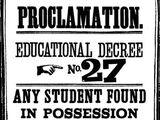 Decreto Educacional Número Vinte e Sete