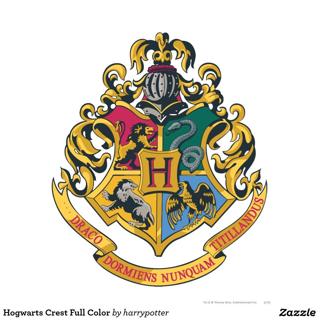 Bild Hogwarts Wappen Farbenreich Poster