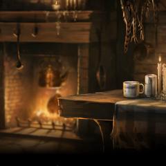 Интерьер хижины с Pottermore