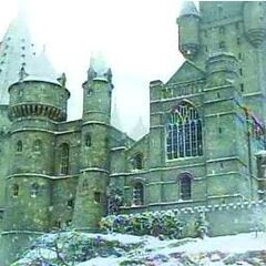 Хогвартс в снегу