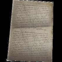 Amorette Deneuve's letter WU