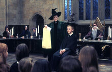 HP1 Draco Malfoy In The Sorting Hat