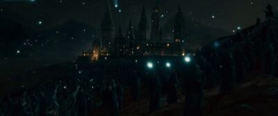 Death Eaters attacking Hogwarts