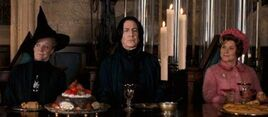 McGonagall Snape Umbridge Feast