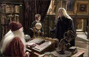 Lucifus, Harry og Albus på humlesnurrs kontor