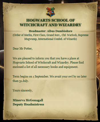 Hogwarts acceptance letter harry potter wiki fandom powered by wikia hogwarts acceptance letter stopboris Image collections