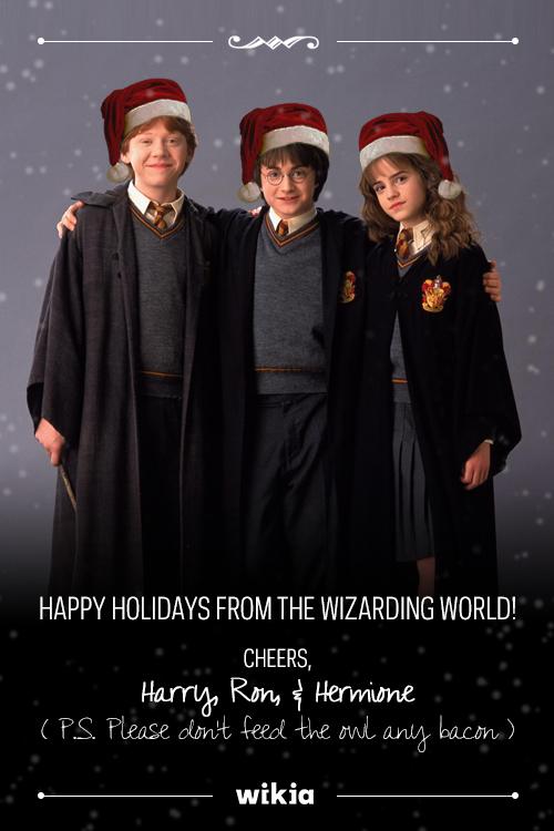 w bc xmascards - Happy Christmas Harry