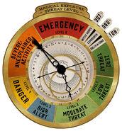 MinaLima Store - Magical Exposure Threat Level Clock