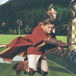 Гарри Поттер во время матча по квиддичу