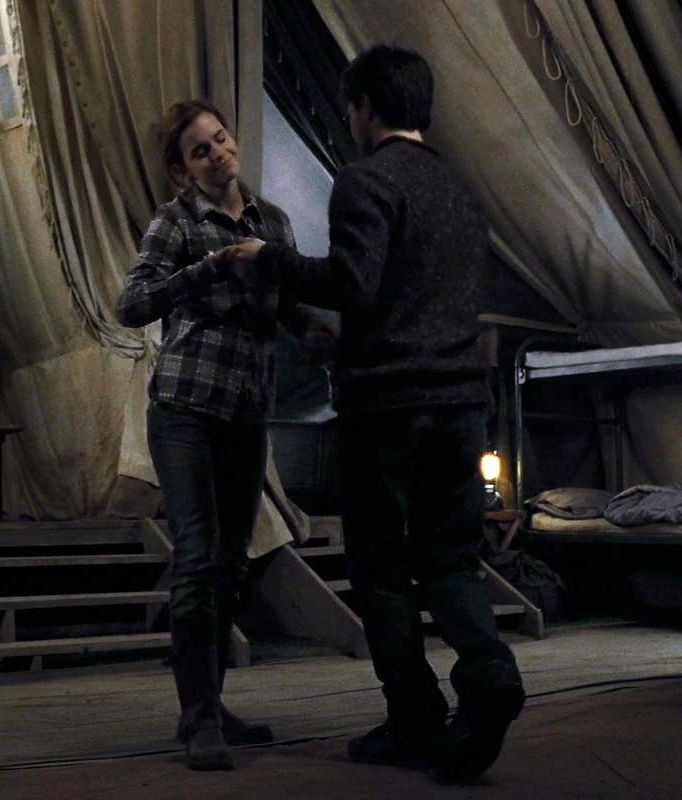 Harry & Hermione dancing