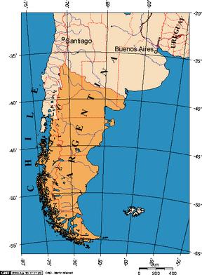 Położenie Patagonii