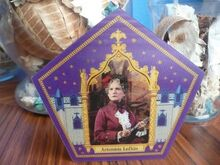 Artemisia lufkin, on an unapproved chocolate frog card