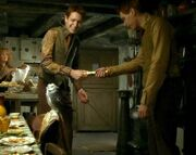 Fred and George pull a wizard cracker-0