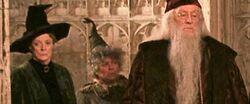 McGonagall, Sprout e Dumbledore