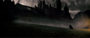 Snape duelling with Harry
