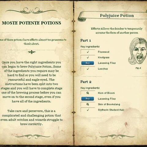 Страница с Pottermore