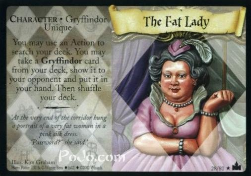 the fat lady trading card harry potter wiki fandom powered by