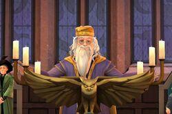 Dumbledore greeting students 1984 HM