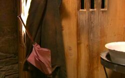 Hagrid's wand and coat inside his hut