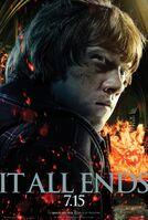Harry potter and the deathly hallows part 2 ron weasley poster
