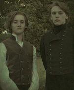 Grindelwald and Albus Dumbledore