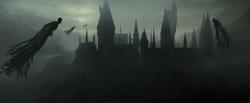 Galtvort slottet som er omringet av desperanter