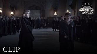 Wizard Duel Minerva McGonagall vs Severus Snape Harry Potter and the Deathly Hallows Pt. 2
