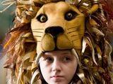 Luna Lovegood's lion-topped hat