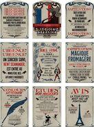 Posters from Le Ministère Des Affaires Magiques De La France