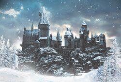 Poudlard sous la neige