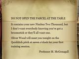 Minerva McGonagall's letter to Harry Potter (1991) I