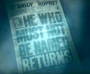 Daily Prophet Voldemort Returns