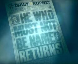 Daily Prophet Voldemort Returns