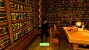 Playstation videospill Harry Potter bibliotek