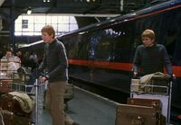 Fred et George à King's Cross