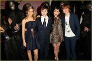 Katie Leung + Daniel Radcliffe + Emma Watson + Rupert Grint + Todesser