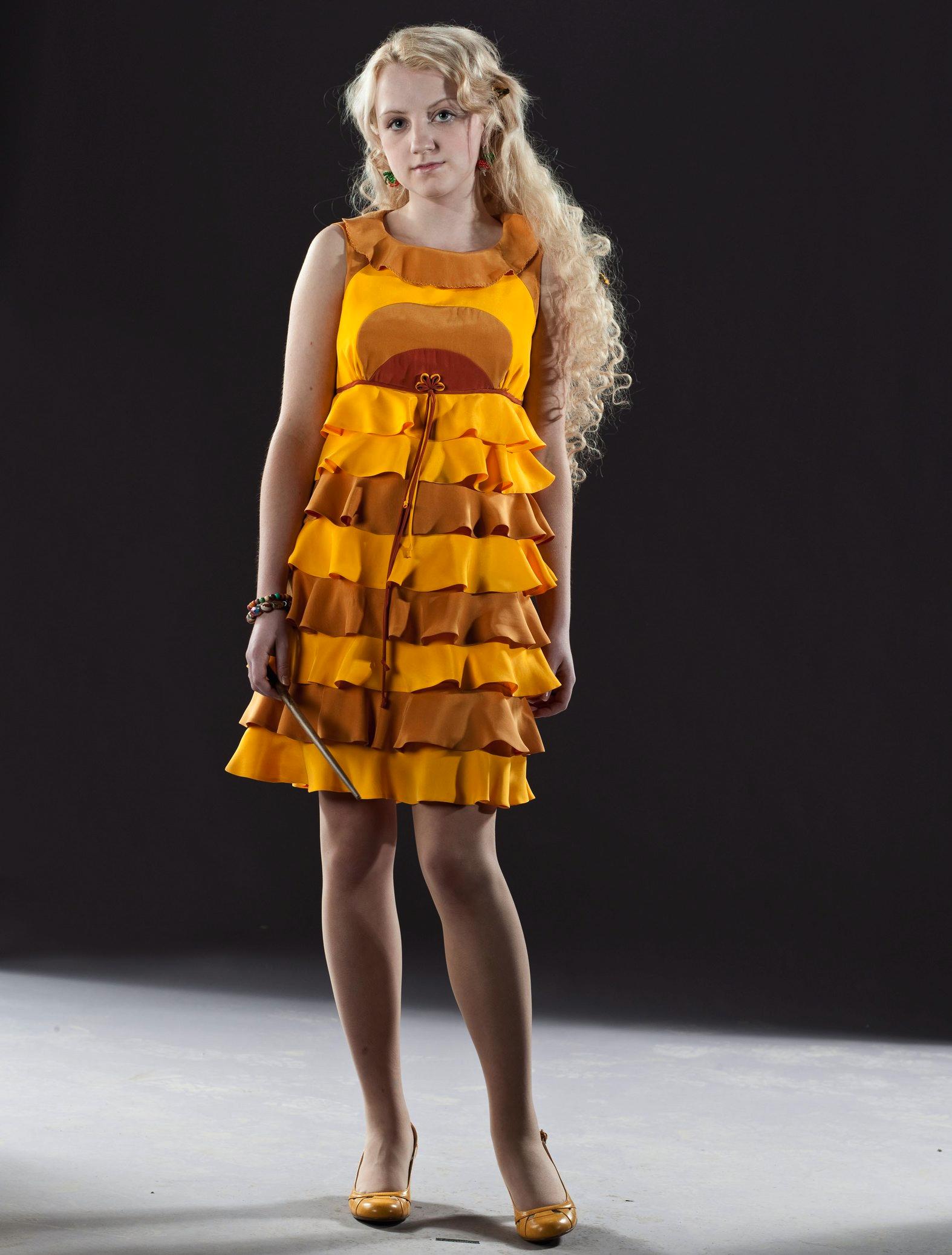 Luna Lovegood\'s yellow dress robes | Harry Potter Wiki | FANDOM ...