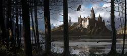 HogwartsCastle WB F4 HogwartsThroughTheTrees Illust 100615 Land