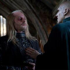 Съёмки разговора Люциуса и Волан-де-Морта в Лодочном сарае