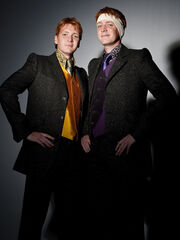 DH1 promo formal wear Fred and George