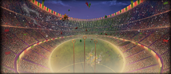Stade de quiddich de la coupe du monde 2