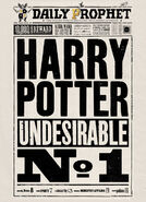 MinaLima Store - The Daily Prophet - Undesirable No.1 - Poster