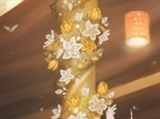 Floating golden lantern