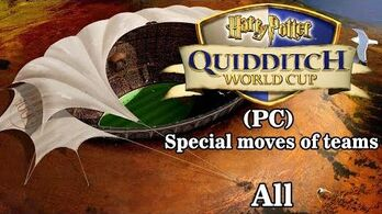 Harry Potter- Quidditch World Cup PC All special moves of teams ( Ultra HD 4K 60 FPS )