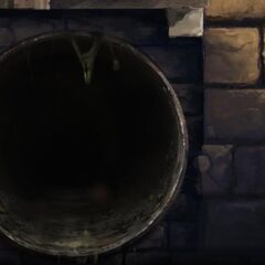 Одна из труб в тайной комнате