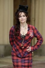 Helena Bonham Carter with her CBE