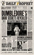 MinaLima Store - The Daily Prophet - Dumbledore's Dark Secrets Revealed