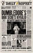 MinaLima Store - The Daily Prophet - Dumbledore's Dark Secrets Revealed