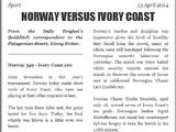 NORWAY VERSUS IVORY COAST