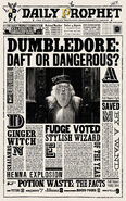 MinaLima Store - The Daily Prophet - Dumbledore Daft or Dangerous